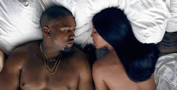 Still from Kanye West's 'Famous' video