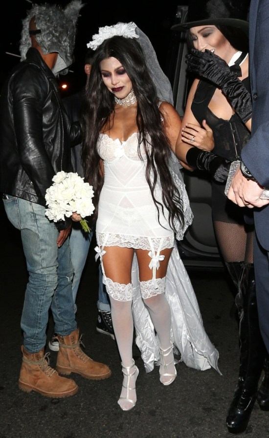 Kourtney Kardashian as Zombie Bride