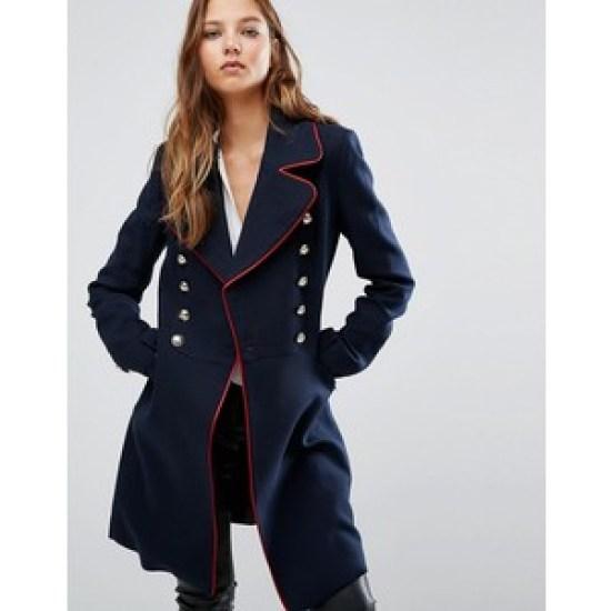 Military coat by Mango