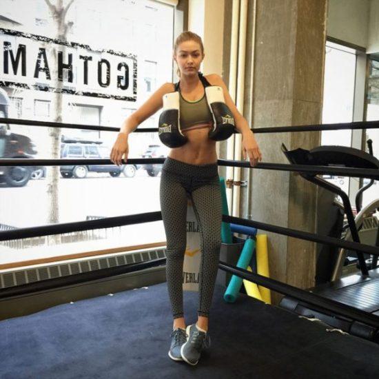 Victoria's secret model boxing