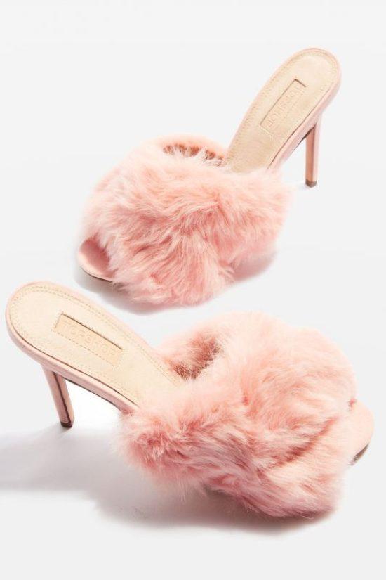 Topshop fur heels