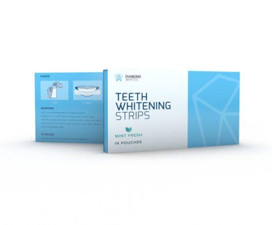 Diamond white teeth whitening strips