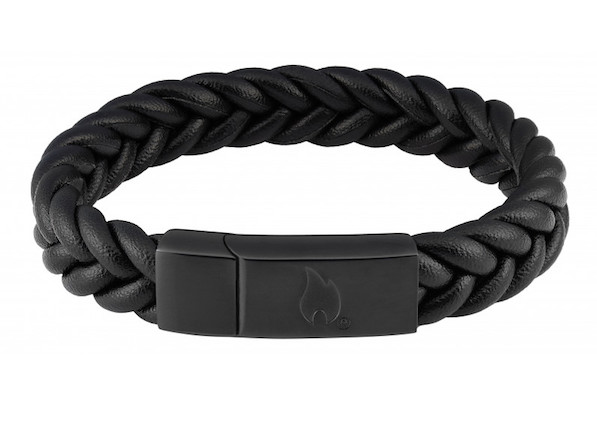 Zippo Braided Leather Bracelet, gift for him
