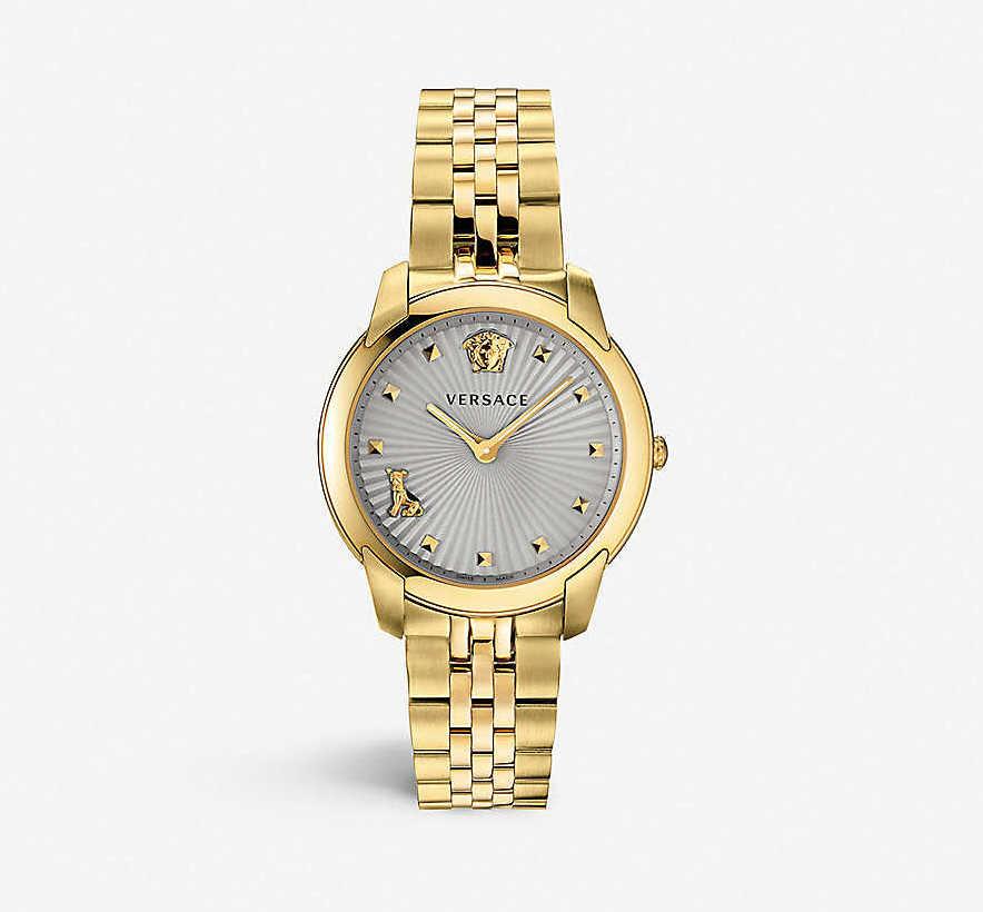 gold versace watch gift