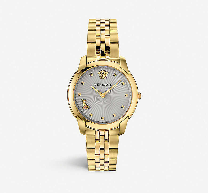 gold versace watch gift