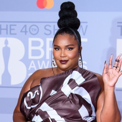Lizzo in Moschino brits 2020