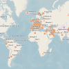 Coronavirus world map / WHO