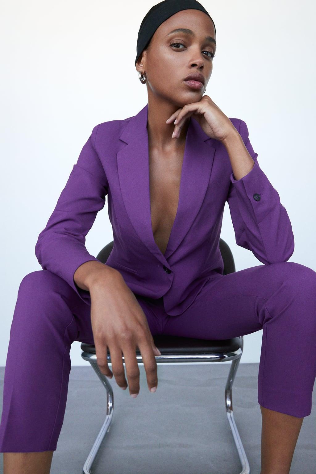 Alt: Zara purple suit