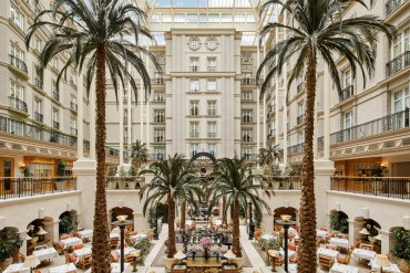 landmark hotel london with palm trees