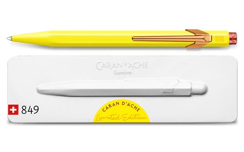 CARANDACHE Ballpoint Pen 849 CLAIM YOUR STYLE Canary Yellow