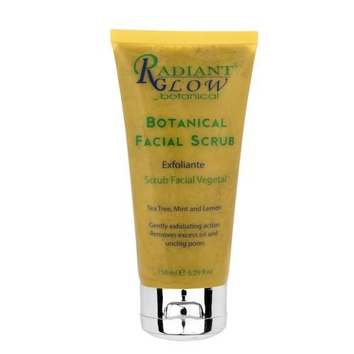 Radiant Glow Botanical Facial Scrub natural organic vegan skincare