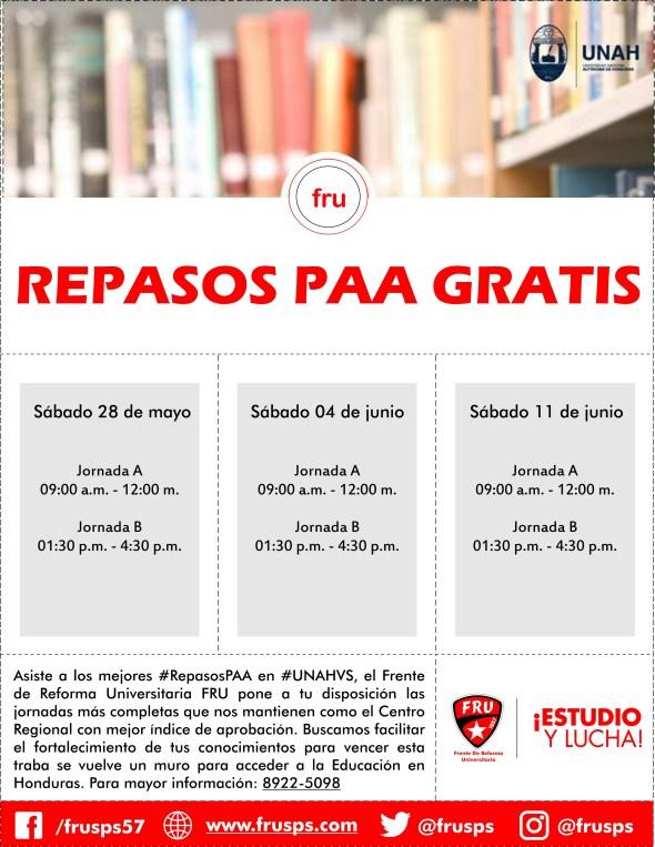 Afiche Repasos PAA II 2016
