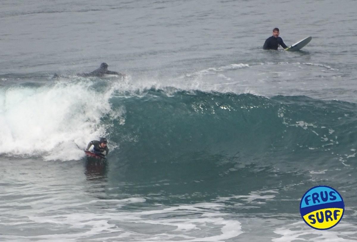 Sesión de surf el dia de Reyes en La Salvaje
