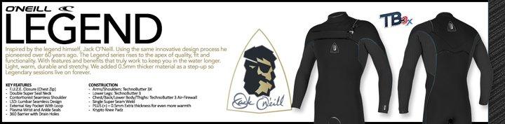 traje de surf Oneill Legend