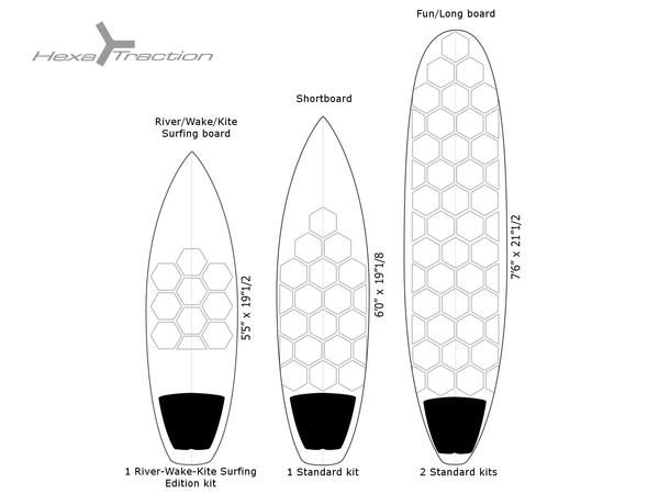 Grip para tabla de surf RSPro Hexa Traction