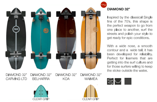 surfskate slide diamond 32