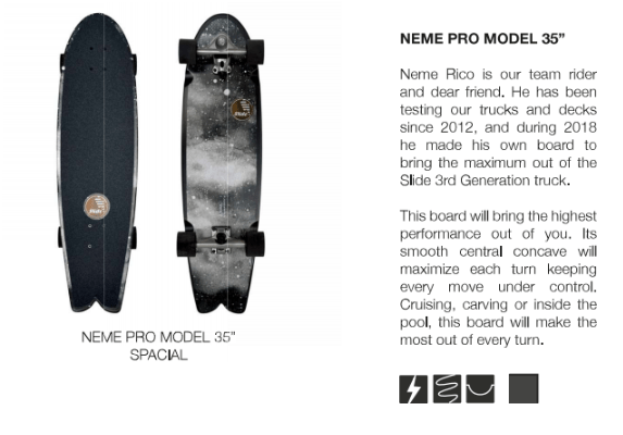 surfskate slide neme pro model 35