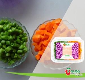Zanahoria y vainica picada