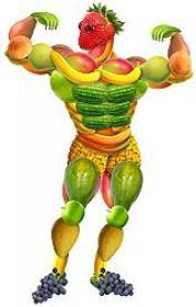 Uomo di frutta