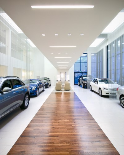 Client: Fryday & Doyne Infiniti Dealership, Lake Norman. Fryday and Doyne design.