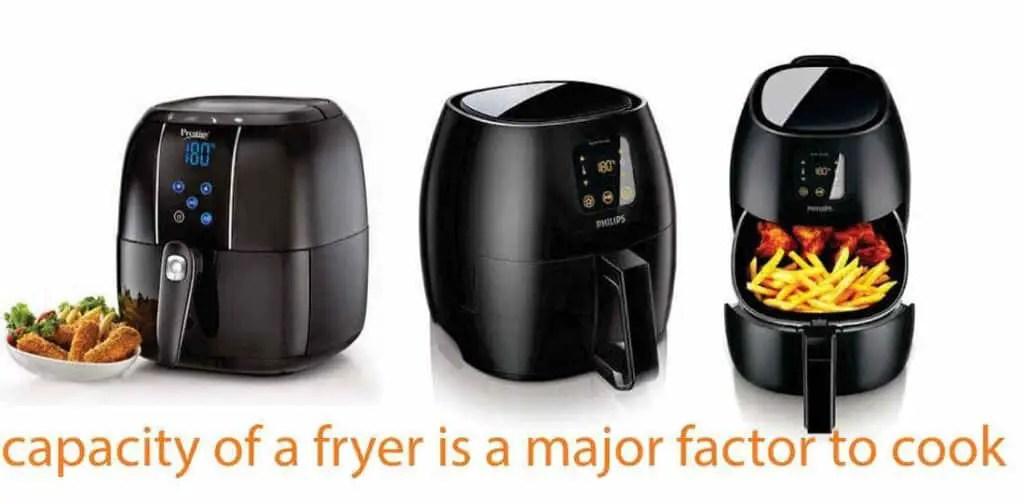 Capacity to choose an Air Fryer
