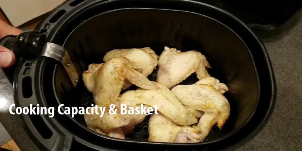Cooking Capacity & Basket