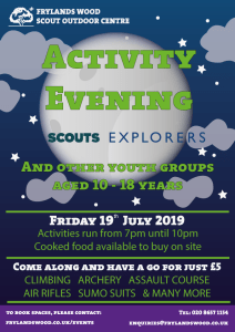 Activity Evening - Older Sections SOLD OUT