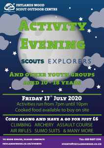 Activity Evening - Older Sections