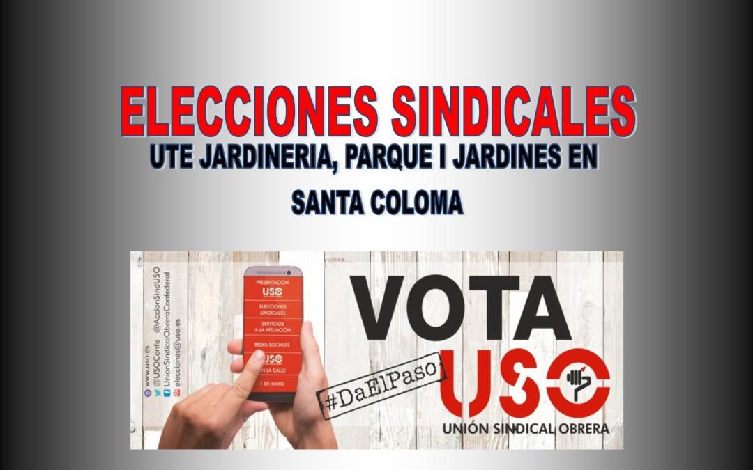 FS-USO OBTIENE 2 DELEGADOS EN UN COMITE DE 5 EN UTE JARDINERIA, PARQUE I JARDINES EN SANTA COLOMA