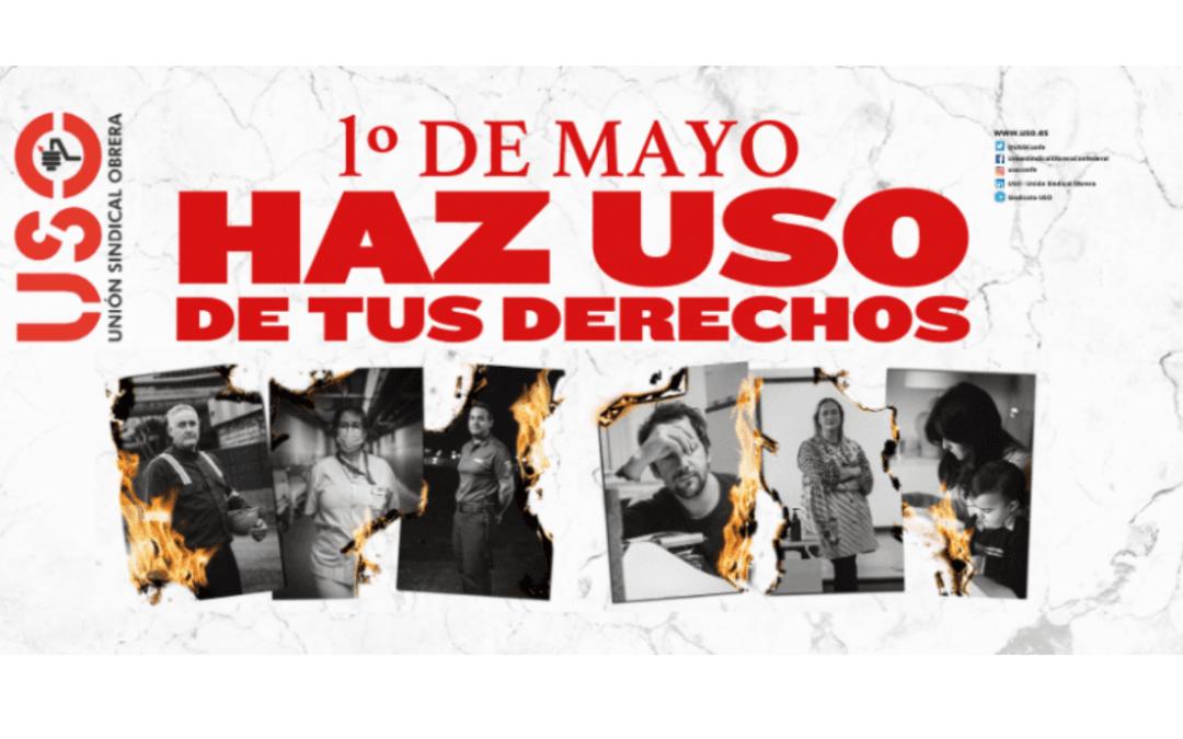 """""""Haz USO de tus derechos"""", este 1º de Mayo"""