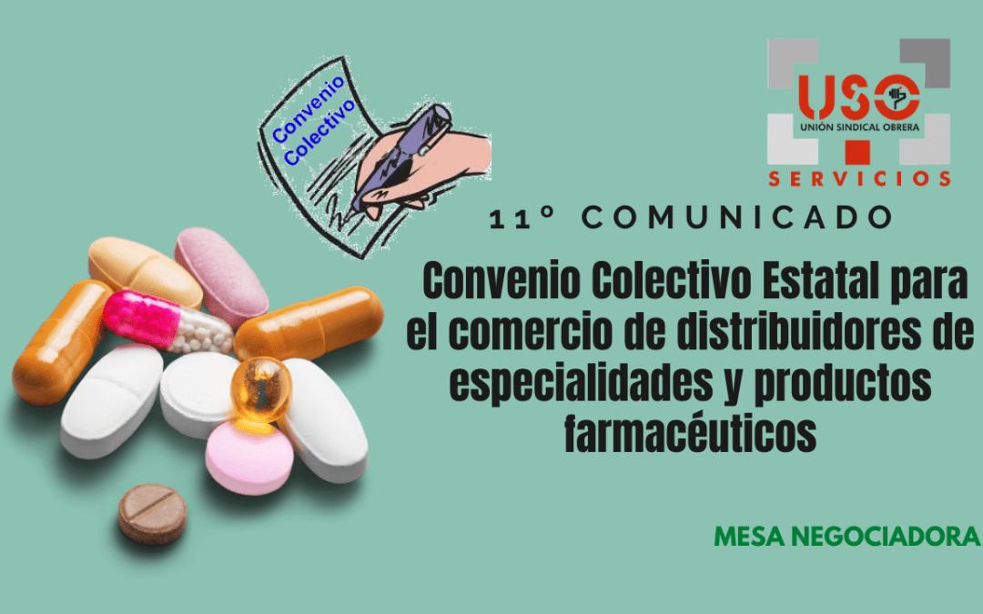 11º Comunicado del Convenio Colectivo Estatal para el comercio de distribuidores de especialidades y productos farmacéuticos