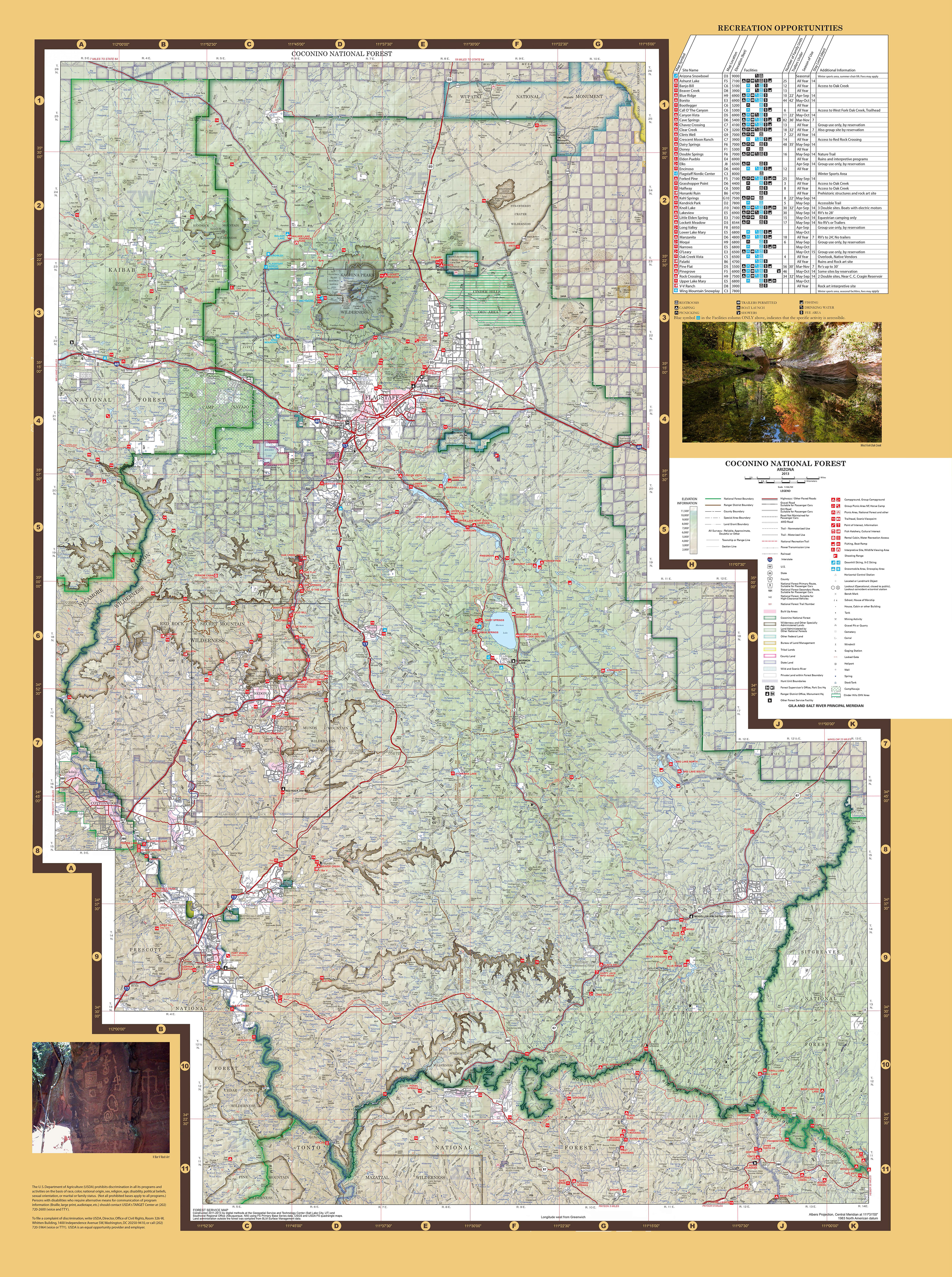 Coconino National Forest   Maps   Publications Coconino National Forest Map  JPEG  13 MB