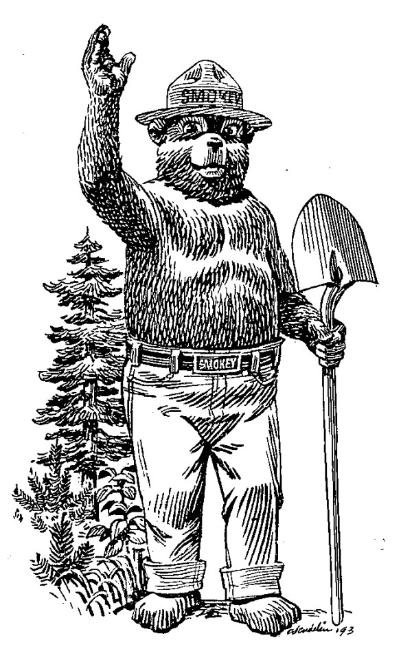 smokey the bear coloring pages # 10