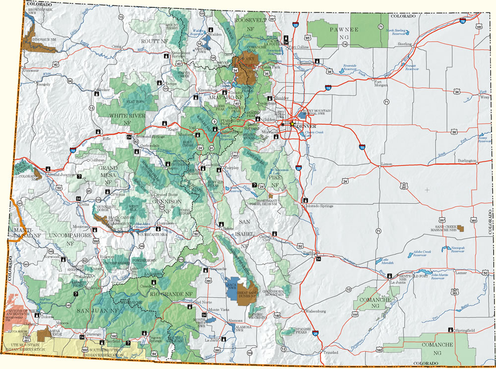 Colorado Recreation Information Map