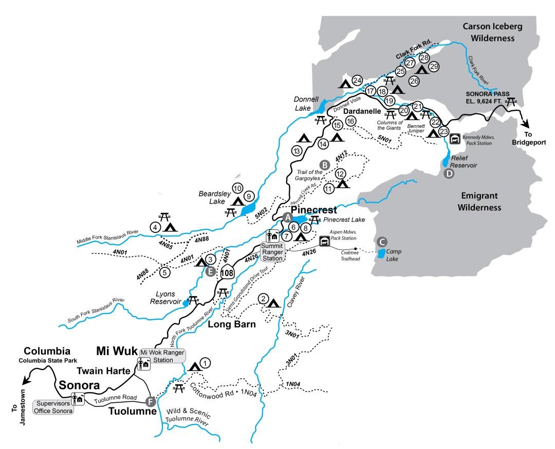 Map hwy 108
