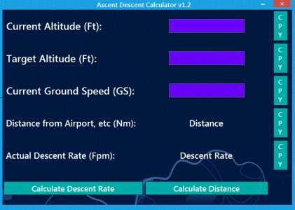 AscentDescentRateCalculator