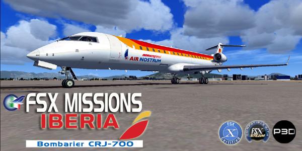 Welcome to Perfect Flight » FSX Missions – Iberia CRJ-700 FSX/P3D