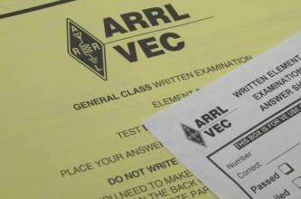 Sign-up for amateur radio license testing