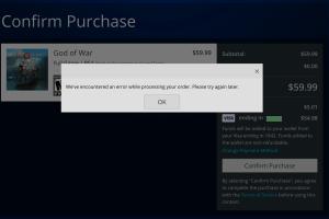 PSN Error Message