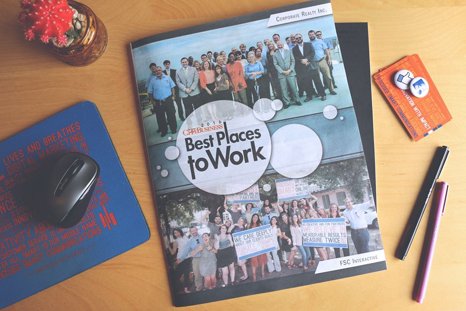 "We are proud to be the first place recipients of New Orleans CityBusiness' ""Best Places to Work"" award for small businesses in New Orleans! What an incredible honor for that incredible front cover group!"