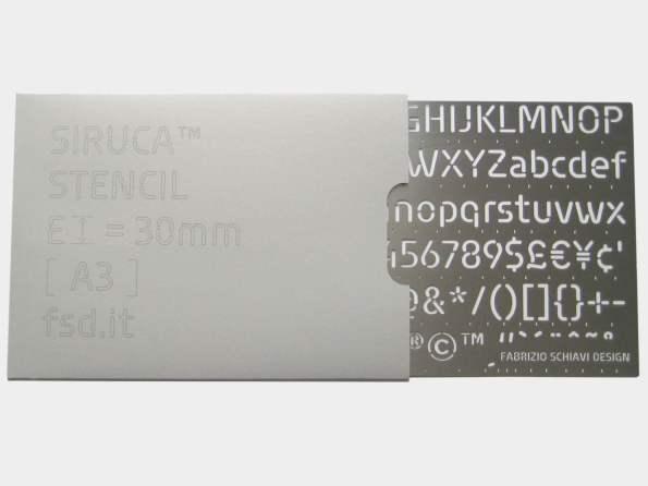Siruca stencil A3 steel