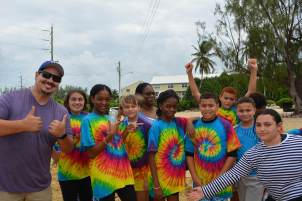 Triple C Students in Tie-Dye Shirts