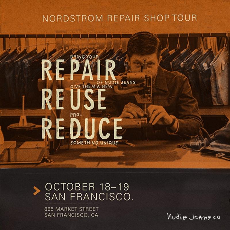 Nudie Jeans x Nordstrom: POP-UP Repair Shop