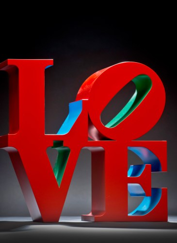 Love sculpture by Robert Indiana exhibited by Wexler Galley