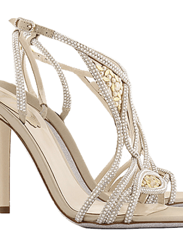 Newport_High heel sandal decorated with crystals straps and sparking nuggets