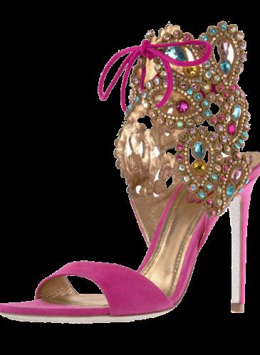 Spring_Ginger_Crystal embellished ankle bracelet sandal