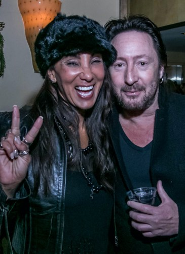 Julie Brown and Julian Lennon