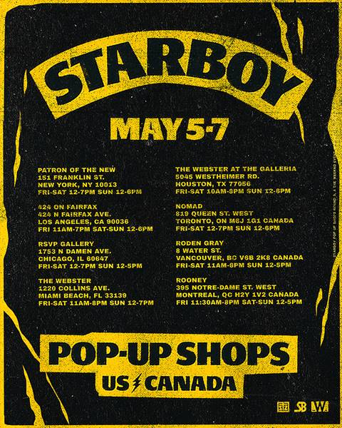 Starboy 2017 Limited Capsule Collection Pop-Up