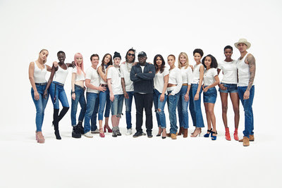 The cast of 'Bridging the Gap' along with Edward Enninful (PRNewsfoto/Gap)