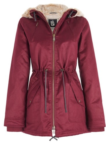 Woman_HoodLambParka_Burgundy_$378USD
